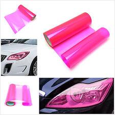 Car Headlight Fog Light Tint Gloss Pink Vinyl Wrap Film Sheet Sticker 100 x 30cm