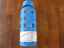 NEW GO GLASS Lifefactory  Blue Coffee Tea Travel Cup Glass BPA Free 9 OZ