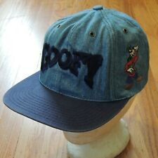 Goofy Vintage Denim Snapback Hat 90s Disney Spell Out Embroidered Cap USA Made