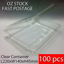 100 pcs x BNIB Sushi Food Party Take Away Disposable Container Clear Plastic 6R