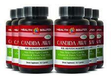 Colon Cleanse - CANDIDA AWAY Detox Pills Body Cleanse (6 Bot, 360 Caps)