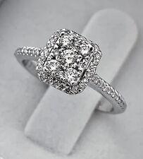 DIAMOND HALO RING 14K WG 0.40 CARAT DIAMONDS, APPR. RETAIL USD $850.00+TAX