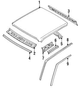 Genuine Mazda Drip Molding UB39-50-521B