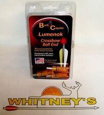 Burt Coyote Lumenok Crossbow Lighted Crescent Bolt -  3pk RED- 2216C3