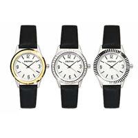 Quarz Damen Armbanduhr mit 3 Wechselrahmen Damenuhr Analog Uhr Quarzuhr