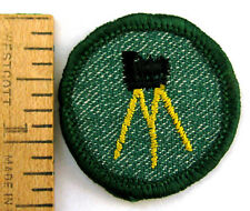 RARE Girl Scout 1955-60 PHOTOGRAPHY BADGE Tripod Camera Photographer Patch NICE