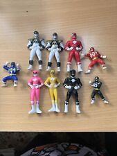 Bundle of 9 Mini Power Ranger Action Figures Saban 1995 & 1994 Cereal Toys