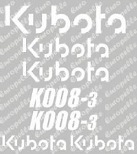 Decal Sticker Set Pour: Kubota K008. Mini Digger/Pelle/sticker.