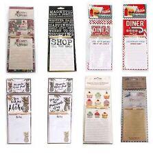 Vintage Magnetic Memo Pad & Pencil Message Board Shopping List Fridge Magnet