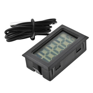 Digital LCD Aquarium Thermometer with Probe Refrigerator Water Thermometer