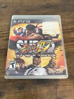 Super Street Fighter IV (Sony PlayStation 3, 2010) PS3 GAME COMPLETE w/MANUAL