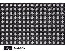 Caillebotis caoutchouc noir - 60cm x 40cm x 1.6cm - Haute qualité