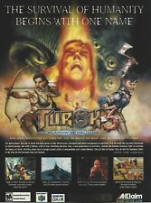 Turok 3: Shadow Of Oblivion Print Ad/Poster Art Nintendo 64 N64 (C)