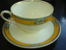J & G Meakin SOL 391413 Mustard Yellow Pattern Cup and Saucer