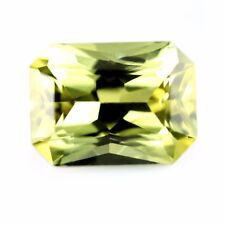 Outstanding Certified Natural 0.84ct Yellow Sapphire Emerald Cut VVS Clarity