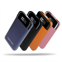 50000mAh Power Bank LCD 2USB LED Backup Battery Pack Charger For Mobile Phone
