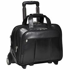 "McKlein USA 17"" Detachable Wheeled Laptop Case Black SKU:80715"