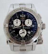 Breitling EMERGENCY Mission A73321 Stainless Chronometer Automatic Watch w/Box
