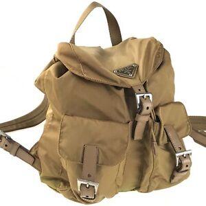 100% authentic PRADA nylon backpack used 1120-12Z50