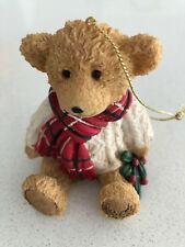 Harrods 2002 RESIN Bear GILES Christmas Ornament New Limited Edition decoration