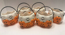 6 Halloween Ghost & Jack-o-lantern Pumpkin Mini Candy Buckets