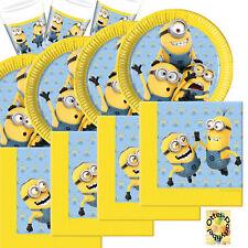 Lovely Minions Partyset 36 Teile für 8 Kinder Teller Becher  Servietten