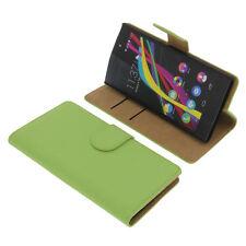 Custodia per Wiko Highway Star Book-Style guscio protettivo Libro Custodia Cellulare Verde