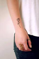 SHIP FROM NY -   Temporary Tattoo - Set of 2 Small Wrist Rose