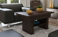 EXTENDABLE LIFT UP QUALITY LARGE COFFEE TABLE MODERN CHESTNUT WENGE CONTEMPORARY
