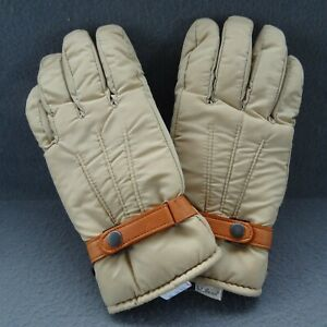 L.L. Bean Men Medium VTG Winter Fleece Lined Gloves Deer Skin Leather Palm LB-2A