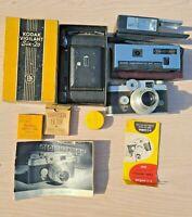 Camera Lot: Kodak Vigilant Six-20 Argus C4 Pocket Instamatic 60 & Accessories !