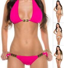 KouCla KATE Women's Top & Side-Tie Bottom Swimwear Swimsuit Bikini Set - S/M/L