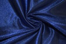 Royal Blue Athletic Dazzle Sports Mesh Tricot Knit Apparel Fabric Polyester BTY