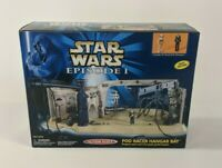Vintage 1998 Micro Star Wars Action Fleet Pod Racer Hanger Bay Playset