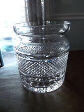 WATERFORD CRYSTAL 'CARA' BISCUIT BARREL~COOKIE JAR~ NO LID