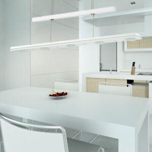 LED Zugpendel Decken Lampe weiß Wohn Ess Zimmer Hänge Leuchte höhenverstellbar