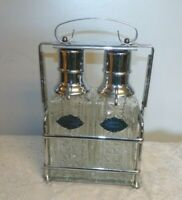 Vtg United Chrome Tantalus Decanter Liquor Pump Dispenser 1950's lockable