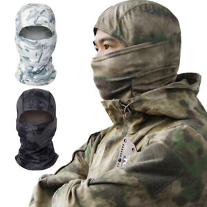 Tactical Camouflage Hunting Balaclava Face Cover Neck Gaiter Headwear Hat Unisex