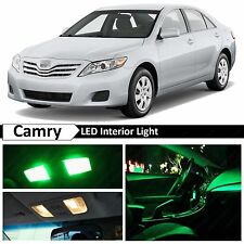 13x Green LED Lights Interior Package Kit for 2007-2011 Toyota Camry Sunroof