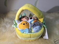 Disney Store Authentic Easter Tsum Tsum Basket Easter Collection Set of 4