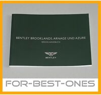 NEU Deutsch Bentley Arnage Azure Brooklands Serviceheft warranty record book