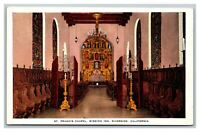 Riverside, CA California, St Francis Chapel Mission Inn Unposted Linen Postcard