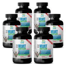 Canadian Elk Velvet Antler Powder 550mg Improves Energy 6 Bottles, 540 Capsules