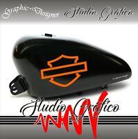 2 ADESIVI DECAL STICKERS  HARLEY DAVIDSON X SERBATOIO MOTO CUSTOM