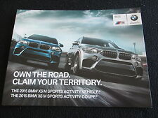 2015 BMW X5 M X6 M Intro Brochure X5M X6M Foldout US Sales Catalog Color chrt