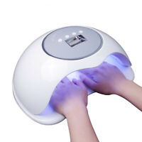 Sun 72W Quick Hand Sensor Powerful UV LED Nail Lamp With Fan For Curing ALL Gels