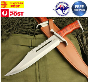 First Blood III Rambo Stallone Hunting Knife Bowie Military Combat Survival
