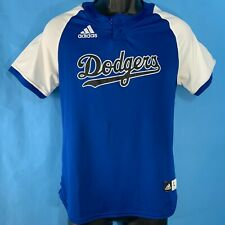 Adidas Climalite LA Dodgers Ladies Large Jersey Blue & White Pullover #35