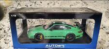 AUTOart 1:18 Porsche 911 (997) GT3 RS Green w/ Black Stripes FREE USA Shipping