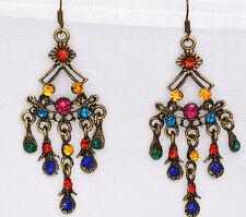 NEW Retro Tibet Gold Flower basket tibet silver fashion   crystal earrings  X6